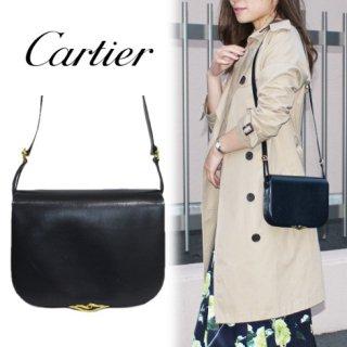 Cartier カルティエ<br>【Vintage ヴィンテージ】<br>サファイアラインショルダーバッグ