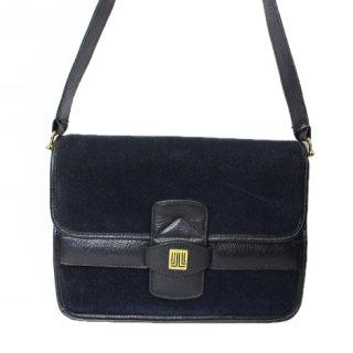 LANVIN ランバン【Vintage ヴィンテージ】<br>スウェードショルダーバッグ