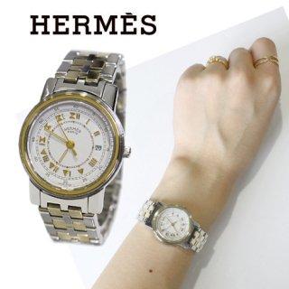 HERMES エルメス<br>【Vintage ヴィンテージ】<br>キャリック コンビQZ腕時計