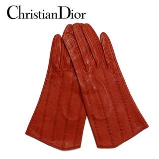 Dior ディオール<br>【Vintage ヴィンテージ】<br>レザーグローブ