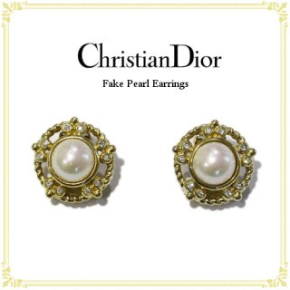 Dior ディオール ヴィンテージ<br>フェイクパールイヤリング