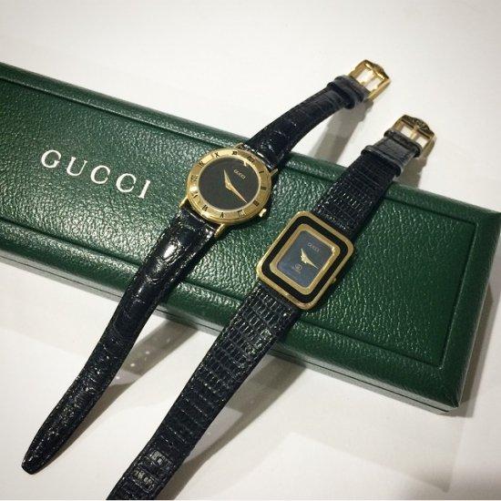 GUCCI グッチ ヴィンテージ<br>レザーベルトQZ腕時計 3000.2.L