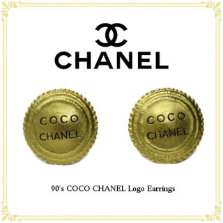 CHANEL シャネル ヴィンテージ<br>90's ココシャネルロゴイヤリング