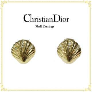 Dior ディオール ヴィンテージ<br>シェルイヤリング
