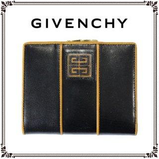 GIVENCHY ジバンシー<br>【Vintage ヴィンテージ】<br>バイカラ—がま口二つ折り財布