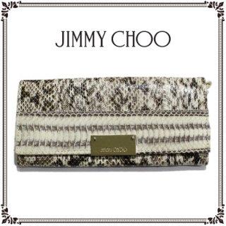 JIMMY CHOO ジミーチュウ<br>【Vintage ヴィンテージ】<br>パイソン型押し 長財布