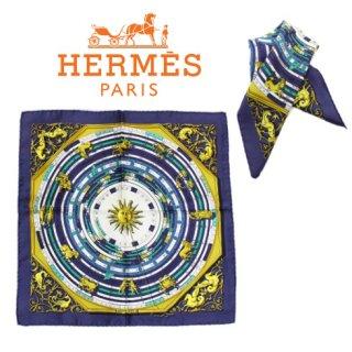 HERMES エルメス ヴィンテージ<br>60's DIES ET HORE ミニスカーフ