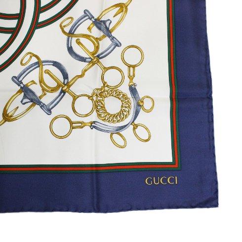 GUCCI グッチ ヴィンテージ<br>シェリーラインスカーフ