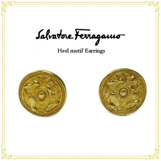 Ferragamo フェラガモ<br>【Vintage ヴィンテージ】<br>ヒールモチーフイヤリング