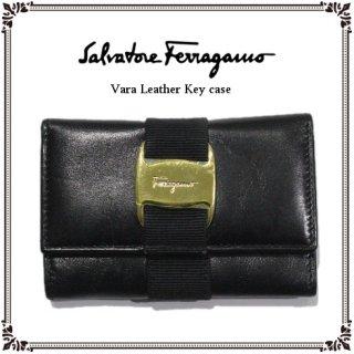 Ferragamo フェラガモ<br>【Vintage ヴィンテージ】<br>ヴァラレザー6連キーケース