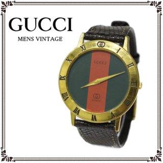 GUCCI グッチ<br>【Vintage ヴィンテージ】<br>メンズQZ腕時計 3001M