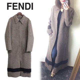 FENDI フェンディ<br>【Vintage ヴィンテージ】<br>ロングニットコート