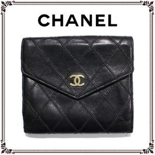 CHANEL シャネル<br>【Vintage ヴィンテージ】<br>ココマークビコローレ二つ折り財布