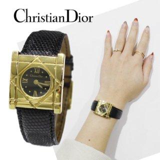 Dior ディオール<br>【Vintage ヴィンテージ】<br>クールカレQZ腕時計