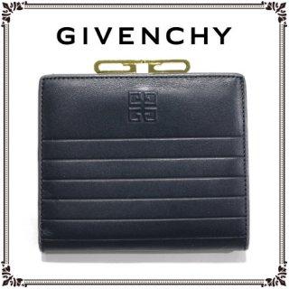 GIVENCHY ジバンシー<br>【Vintage ヴィンテージ】<br>ロゴがま口レザー二つ折り財布
