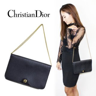 Dior ディオール<br>【Vintage ヴィンテージ】<br>チェーンクラッチショルダーバッグ