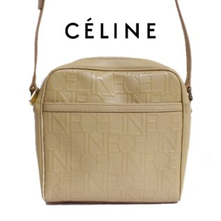 CELINE セリーヌ<br>【Vintage ヴィンテージ】<br>ロゴ総柄ショルダーバッグ