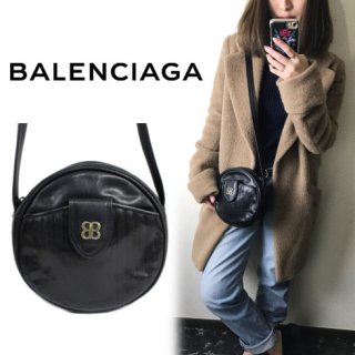 BALENCIAGA バレンシアガ<br>【Vintage ヴィンテージ】<br>ラウンドショルダーバッグ