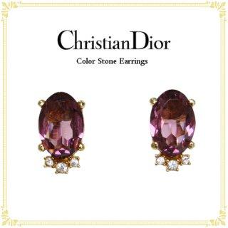 Dior ディオール ヴィンテージ<br>カラーストーンイヤリング