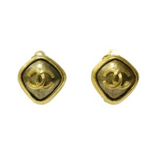 CHANEL シャネル ヴィンテージ<br>90'sココマークゴールドストーンイヤリング