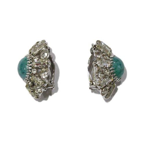Dior ディオール<br>【Vintage ヴィンテージ】<br>50's ストーン×ビジューイヤリング