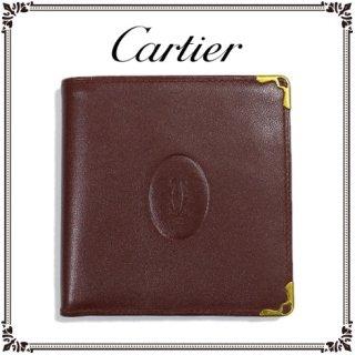 Cartier カルティエ<br>【Vintage ヴィンテージ】<br>マストライン二つ折り財布
