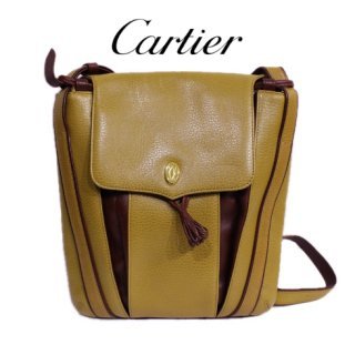 Cartier カルティエ<br>【Vintage ヴィンテージ】<br>レザーショルダーバッグ