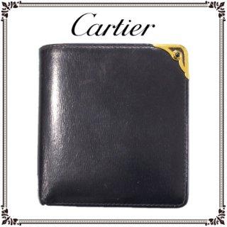Cartier カルティエ<br>【Vintage ヴィンテージ】<br>サファイアライン二つ折り財布