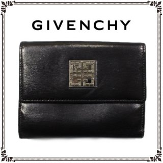 GIVENCHY ジバンシー<br>【Vintage ヴィンテージ】<br>ストーンロゴレザー二つ折り財布