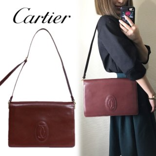 Cartier カルティエ<br>【Vintage ヴィンテージ】<br>マストラインスクエアショルダーバッグ