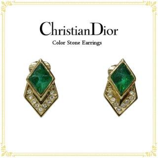 Dior ディオール<br>【Vintage ヴィンテージ】<br>カラーストーンイヤリング