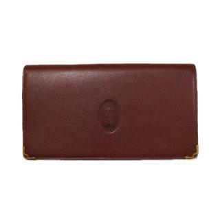 Cartier カルティエ<br>【Vintage ヴィンテージ】<br>マストライン二つ折り長財布