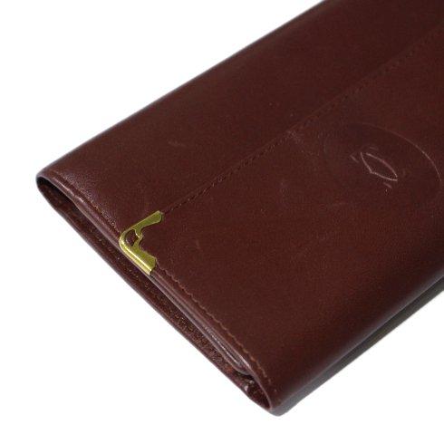Cartier カルティエ<br>【Vintage ヴィンテージ】<br>マストライン三つ折り財布