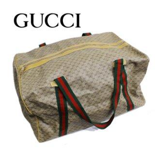 GUCCI グッチ<br>【Vintage ヴィンテージ】<br>マイクロGG×シェリーラインボストンバッグ