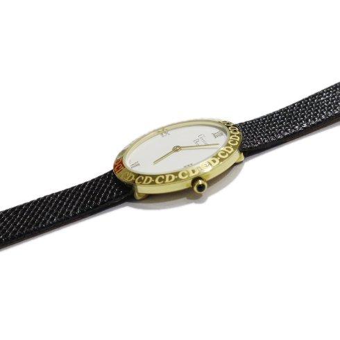 Dior ディオール ヴィンテージ<br>サークルロゴレザーベルトQZ腕時計