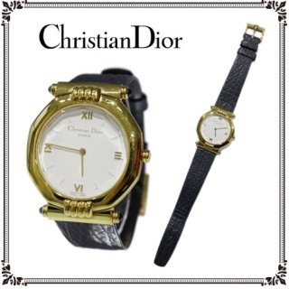 Dior ディオール ヴィンテージ<br>メンズレザーベルトQZ腕時計