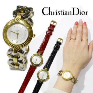 Dior ディオール<br>【Vintage ヴィンテージ】<br>チェンジベルトQZ腕時計
