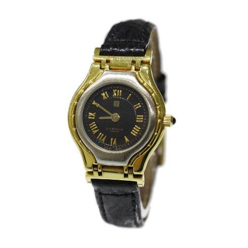 GIVENCHY ジバンシー ヴィンテージ<br>レザーベルトQZ腕時計