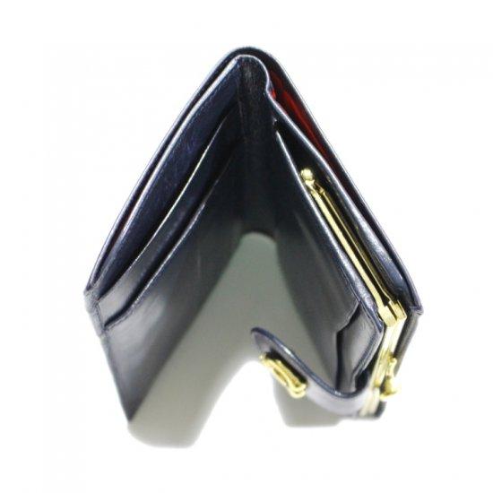GUCCI グッチ ヴィンテージ<br>ホースシューがま口レザー二つ折り財布