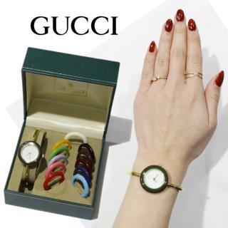 GUCCI グッチ<br>【Vintage ヴィンテージ】<br>チェンジベゼルQZ腕時計 12色