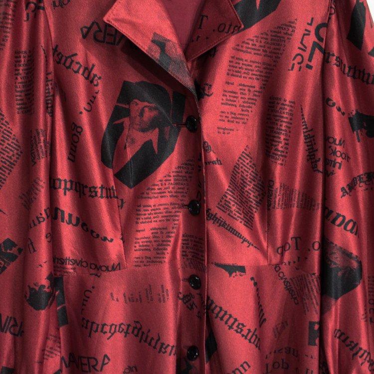 RiLish's SELECT ヴィンテージ<br>70's ニュースペーパーロングワンピース