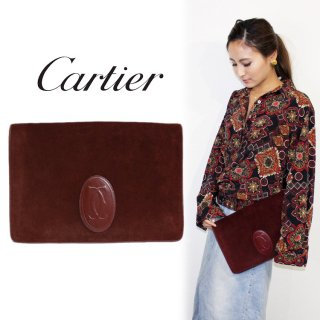 Cartier カルティエ<br>【Vintage ヴィンテージ】<br>マストラインスウェードクラッチバッグ