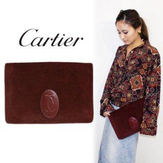 Cartier カルティエ ヴィンテージ<br>マストラインスウェードクラッチバッグ