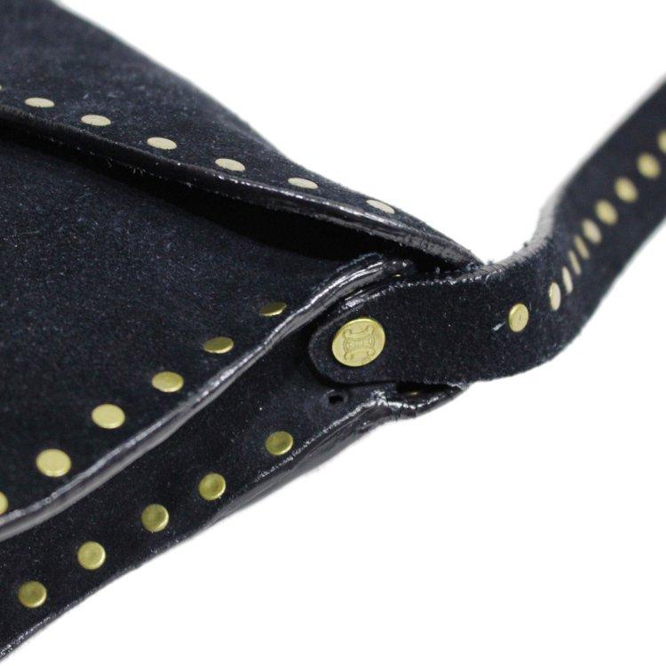 CELINE セリーヌ<br>【Vintage ヴィンテージ】<br>スタッズスウェードレザーハンドバッグ