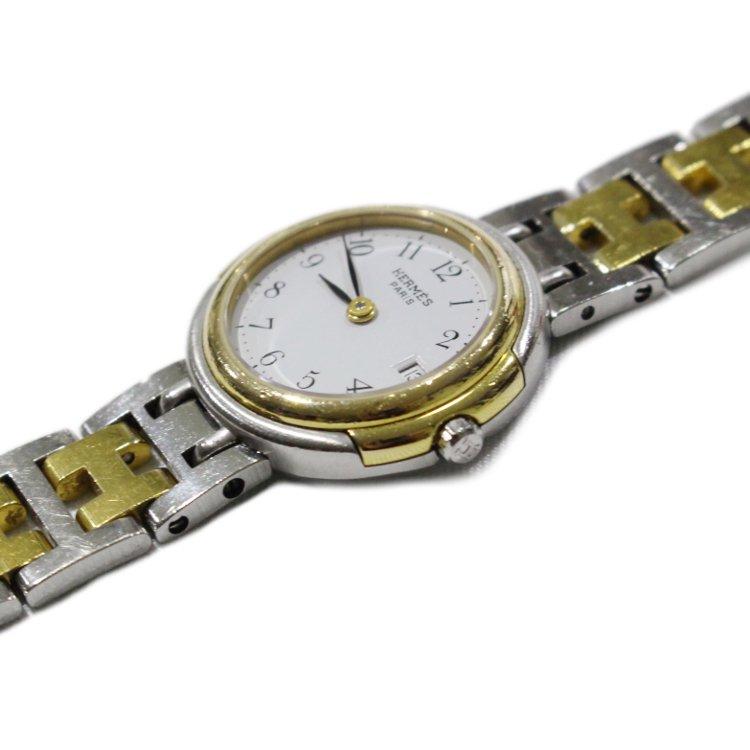 HERMES エルメス ヴィンテージ<br>ウィンザーデイトコンビQZ腕時計