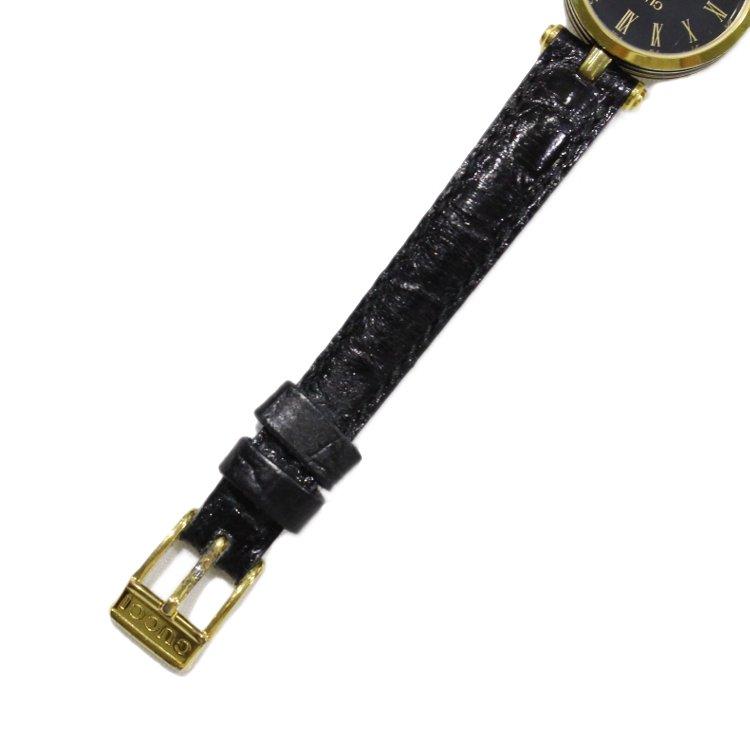 GUCCI グッチ ヴィンテージ<br>シェリーラインレザーベルトQZ腕時計