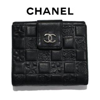 CHANEL シャネル<br>【Vintage ヴィンテージ】<br>アイコン二つ折り財布