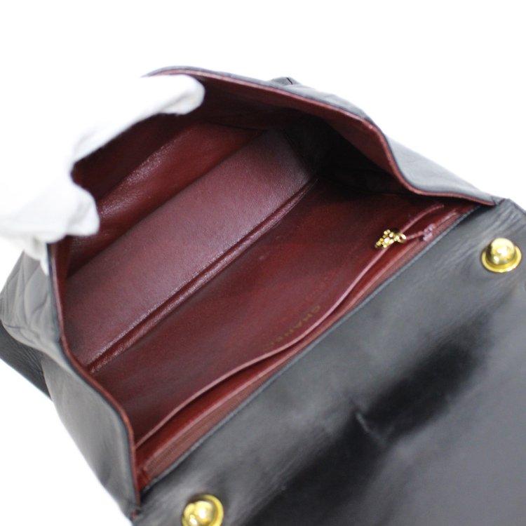 CHANEL シャネル<br>【Vintage ヴィンテージ】<br>ココマークマトラッセチェーンバッグ ラムスキン