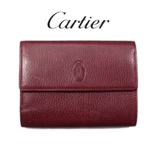 <img class='new_mark_img1' src='https://img.shop-pro.jp/img/new/icons14.gif' style='border:none;display:inline;margin:0px;padding:0px;width:auto;' />Cartier カルティエ<br>【Vintage ヴィンテージ】<br>マストラインがま口三つ折り財布