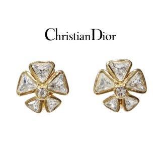 Dior ディオール ヴィンテージ<br>フラワービジューイヤリング